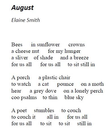 Elaine Smith, August